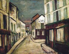 Maurice Utrillo (1883-1955) Street Barnes Foundation Philadelphia
