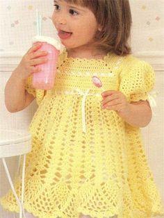 Croche pro Bebe: Vestidinhos infantil de croche