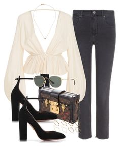 """""""Sin título #3402"""" by camilae97 ❤ liked on Polyvore featuring Étoile Isabel Marant, Kalita, Ray-Ban, Louis Vuitton, Sw/Tch, Aquazzura and ASOS"""