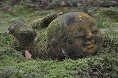 Moss Buddha, a photo by Yupa-sama