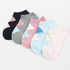 Find More Socks Information about 5 Pairs/ Lot  Autumn Winter Cotton Socks Diamond Lattice Female Socks Womens Short Socks Hot Sale High Quality Socks Wholesale,High Quality socks bulk,China sock rack Suppliers, Cheap sock men from Cheap Designer Socks on Aliexpress.com