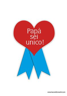 coccarda-festa-papa-2 Son Luna, Mother And Father, Fathers Day, Daddy, Education, Camilla, Simple, Crafts, Sweet