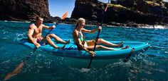 Kayaking through Hulopoe (#Lanai)