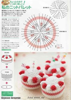 39 Patterns of sympathetic Amigurumis ll (Patterns in Spanish) Crochet Pincushion, Crochet Cake, Crochet Fruit, Crochet Food, Crochet Crafts, Crochet Doilies, Crochet Projects, Crochet Flower Patterns, Crochet Patterns Amigurumi