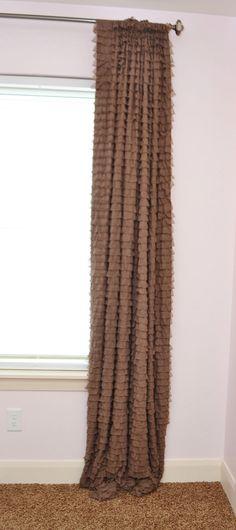 Custom Ruffled Curtain Panel Taupe or You by avisiontoremember