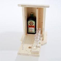 Zwitscherkasten - Minibar für den Garten inkl. 4 Gläsern   LABU24