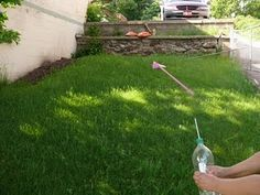 how to make a rocket w/ empty water bottle and straw