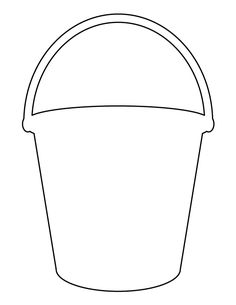 Bucket pattern. Use the printable outline for crafts, creating stencils, scrapbooking, and more. Free PDF template to download and print at http://patternuniverse.com/download/bucket-pattern/
