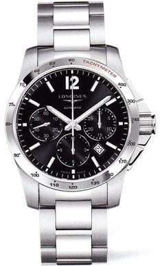 L2.743.4.56.6, L27434566, Longines conquest chronograph watch, mens