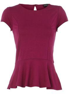 raspberry jersey #peplum top #RDStepIntoFall