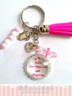 cadeau marraine cadeau pour marraine annonce grossesse marraine marraine qui déchire : Porte clés par delicate-attention