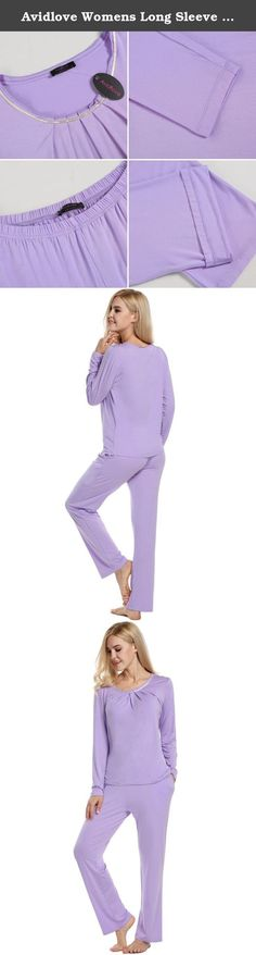 Avidlove Womens Long Sleeve Pajama Set with Pj Pants Comfy Sleepwear. Avidlove Womens Pajama Sleep Set Eco-Friendly Gifts Short Sleeve Pajama Set with Pj Pants Please refer to the sizing information in the image to ensure you the utmost satisfaction possible with this product Features: Two-piece pajama set featuring Short sleeve top and long pants Elastic waistband for a relaxed fit Classic design The reason to choose Avidlove Woamens pajama set: This pajamas set in attractive colors...