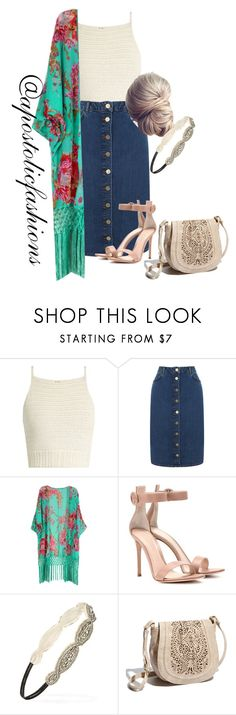 """""""Apostolic Fashions #1784"""" by apostolicfashions ❤ liked on Polyvore featuring SHE MADE ME, Oasis, Gianvito Rossi, Forever 21 and Big Buddha"""