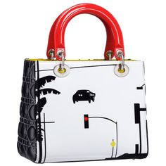 Dior Commissions Seven Artists for Limited-Edition Lady Diors ❤ liked on Polyvore featuring bags