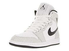 Nike Jordan Men's Air Jordan 1 Retro High White/Black Pure Platinum Basketball Shoe 7.5 Men US - Brought to you by Avarsha.com