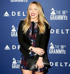 @Hilary Duff at Soho House on January 23, 2014 in West Hollywood. She is stunning & i am so proud of her!!! #MyIdol #Music #New #DeltaAirlines #Appearances #BlondesDoItBetter! #Womens #FASHION #Mini #Skirt #Monochromatic #ColorBlocking #RedLips