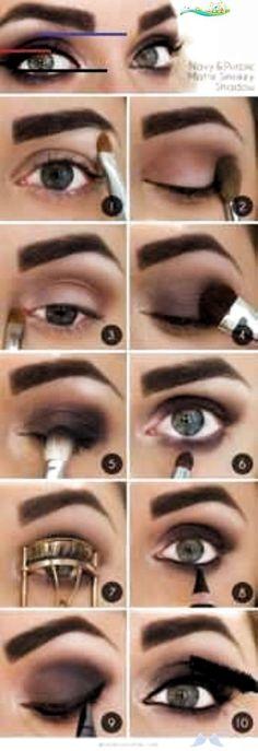 50 Perfect Makeup Tutorials for Green Eyes  The Goddess   #eyes #Goddess #gr<br> Blue Dress Makeup, Black Girl Makeup, Makeup For Green Eyes, Blue Eye Makeup, Dramatic Makeup, Glam Makeup, Face Makeup, Makeup Tricks, Makeup Tutorials