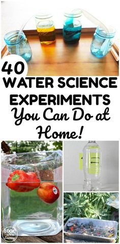 Bring science into your home with these simple water science experiments you can try at home! Science Activities For Kids, Easy Science, Preschool Science, Science Books, Hands On Activities, Stem Activities, Science Projects, Science Classroom, Elementary Science