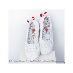Ravelry: White Lace Slippers /Espadrilles pattern by Ingunn Santini