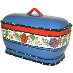 Viva Collection Hand-painted Bread Jar - Overstock™ Shopping - Great Deals on Storage Jars