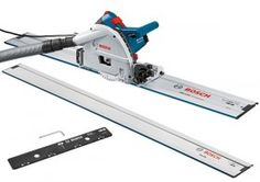 BOSCH GKT55CE 240V 1400W PROFESSIONAL PLUNGE SAW & 2 x 1.6M GUIDE RAIL & CONNECTOR