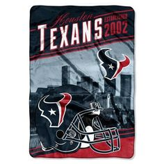 "Houston Texans Fleece Throw - 62"""" x 90"""" Bed Cover"