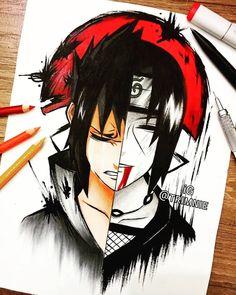 A Lot Of manga And Anime Drawing Styles Manga Naruto, Naruto Vs Sasuke, Naruto Fan Art, Naruto Shippuden Anime, Itachi Uchiha, Otaku Anime, Manga Anime, Anime Art, Naruto Tattoo