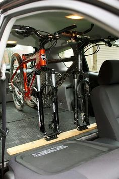 - (notitle) Bike Storage In Van, Bike Storage Trailer, Scooter Storage, Scooter Scooter, Mt Bike, Road Bike, Rando Velo, Camping Trailer Diy, E Mtb