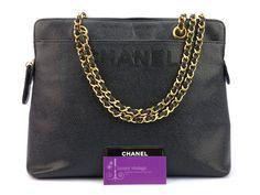 Chanel Vintage Bag Black Colour Caviar With Gold Hardware Good Condition Ref.code-(KSLS-1) More Information Or Price Pls Email  (- luxuryvintagekl@ gmail.com)