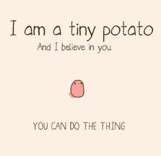 Funny pictures about Thanks Tiny Potato. Oh, and cool pics about Thanks Tiny Potato. Also, Thanks Tiny Potato photos. Tiny Potato, Cute Potato, Potato Cat, Happy Potato, Sweet Potato, Kawaii Potato, Chibird, All Meme, Up Book
