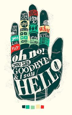 Typography / Hello Goodbye - Lettering by YONIL
