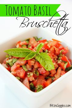 Tomato Basil Bruschetta - the easiest bruschetta you've ever made - so fresh and delicious! Serve with French baguette