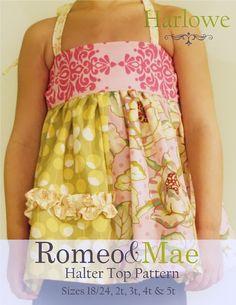 Romeo and Mae-baby, toddler & girls clothing sewing patterns, ebook, pdf, diy, tutorials, instructions » Sewing Patterns