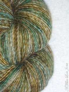 Alpaca and Silk Handspun