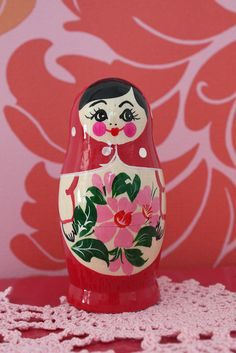 Pink Matryoshka Russian Doll