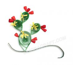 """Quilling Card """"Cactus"""" - Click on image to see step-by-step tutorial."""