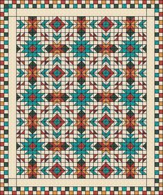 Looking for your next project? You're going to love Southwest Style Quilt by designer Judit Hajdu.