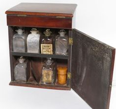 Lot: 157: 19TH C. DOCTOR'S MAHOGANY APOTHECARY CABINET, Lot Number: 0157, Starting Bid: $400, Auctioneer: CRN Auctions, Inc., Auction: CRN ANTIQUES AUCTION featuring Americana, Date: September 9th, 2012 EDT