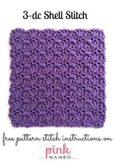 3 dc shell stitch pattern
