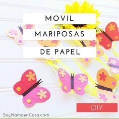 Móvil con Bellas Mariposas de Papel DIY /manualidades /butterflies #SienteGlade AD