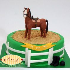 horse - coconut for sand arena Cowgirl Cakes, Western Cakes, Horse Birthday Parties, Cowboy Birthday, Cupcakes, Cupcake Cakes, Horse Cake, Fondant Horse, Racing Cake