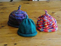 Ravelry: Sweet and Simple Baby Hat pattern by Debbie Bodmer Baby Knitting Patterns, Baby Hat Patterns, Baby Hats Knitting, Knitting For Kids, Free Knitting, Knitting Projects, Knitted Hats, Knitting Ideas, Knitting Club