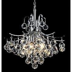 Elegant Lighting Toureg Collection Hanging Fixture with Swarovski Spectra Crystals, Chrome Finish Chandelier Lighting Fixtures, Dining Chandelier, Chandelier Ceiling Lights, Light Fixtures, Chandelier Ideas, Crystal Chandeliers, Ceiling Fixtures, Park Lighting, Modern Lighting