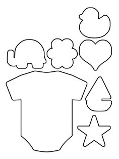 Teddy Bear pattern. Use the printable pattern for crafts