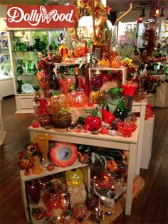 Visit the Rainbow Glass Factory on your next visit to bring a beautifully hand blown glass pumpkin home. You can also call and place an order with our Rainbow Glass Factory to have it shipped the pumpkin directly to your home. Here are the prices: Large Pumpkin $59.99 (+Tax & Shipping), Medium Pumpkin $39.99 (+Tax & Shipping), Small Pumpkin $26.99 (+Tax & Shipping), Lil Jon Pumpkin (Mini) $19.99 (+Tax & Shipping). Place an order by stopping by the Rainbow Glass Factory or call - (865) 868-1285