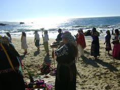 Ceremonia frente al Mar