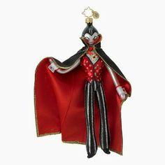 "Halloween Shopaholic: Adorable New Dracula Ornaments - Radko's ""Count me In"""