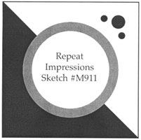 Repeat Impressions Sketch M911. Play along with our WHAT IF? Wednesday Sketch Challenges for your chance to win a Repeat Impressions gift certificate! - http://www.thehousethatstampsbuilt.com - #repeatimpressions #rubberstamps #cardmaking
