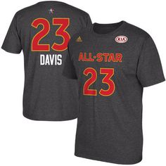 Men's Anthony Davis adidas Charcoal 2017 All-Star Game Name & Number T-Shirt