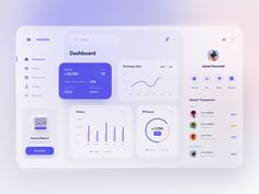 Dashboard Examples, Dashboard Design, Financial Dashboard, Dashboard Interface, App Design Inspiration, Web Ui Design, Ui Web, Mobile App Design, Finance